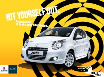 Alto Accessory Brochure September 2012 - Suzuki