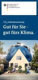 CO2-Gebäudesanierung. Gut für Sie – gut fürs Klima. - BMVBS