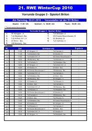Vorrunde Gruppe 3 - SV 20 Brilon