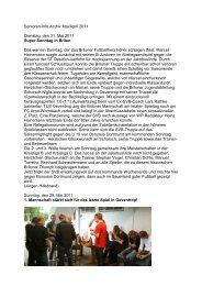 Senioren-Info Archiv Mai/April 2011 Dienstag, den 31 ... - SV 20 Brilon