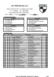 Turnier mit 16 Mannschaften _Nikolaus ... - SV 20 Brilon