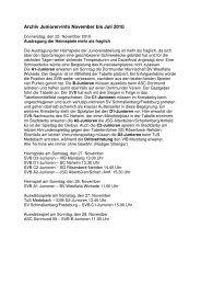 Archiv Junioren-Info November bis Juli 2010 - SV 20 Brilon