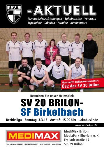 7. Ausgabe vom 03.03.2013 (PDF 6,80MB) - SV 20 Brilon
