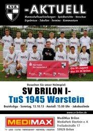 4. Ausgabe vom 13.10.2013 (PDF 6,57MB) - SV 20 Brilon