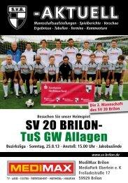 1. Ausgabe vom 25.08.2013 (PDF 6,41MB) - SV 20 Brilon