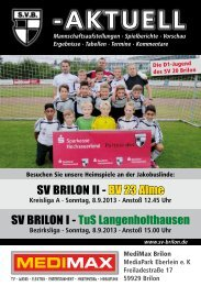 2. Ausgabe vom 08.09.2013 (PDF 6,50MB) - SV 20 Brilon