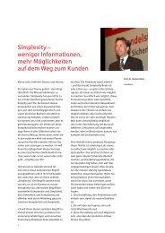 Simplexity – weniger Informationen, mehr Möglichkeiten auf dem Weg ...