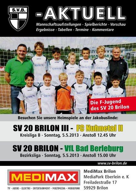 9. Ausgabe vom 05.05.2013 (PDF 6,80MB) - SV 20 Brilon