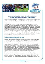 Presseinformation 2013 - Turnierstart.pdf - Danone Nations Cup