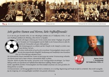 1. Teil (Seite 1-10) - SV Feldkirchen 1910