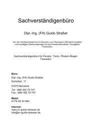 Leistungsübersicht - Straßer, Guido