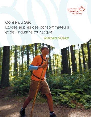 Études auprès des consommateurs et de l'industrie touristique