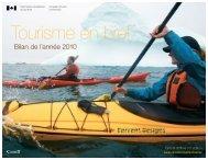 Bilan de l'année 2010 - La Commission canadienne du tourisme ...