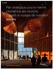 Plan stratégique pour le marché international des réunions, congrès ...