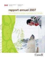 rapport annuel 2007 - La Commission canadienne du tourisme ...