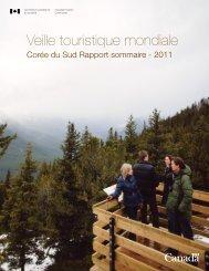 Veille touristique mondiale Corée du Sud Rapport sommaire - 2011