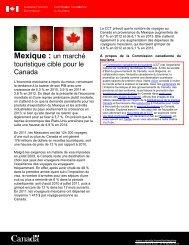 Mexique - La Commission canadienne du tourisme - Canada
