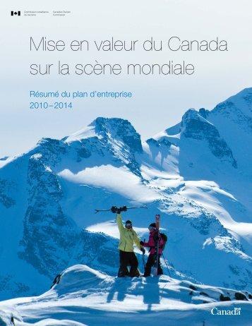 Mise en valeur du Canada sur la scène mondiale - La Commission ...