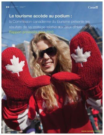 Le tourisme accède au podium : - La Commission canadienne du ...