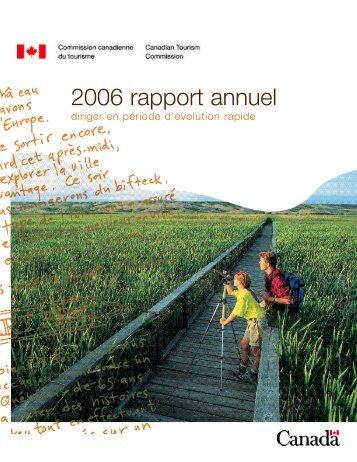 2006 rapport annuel - La Commission canadienne du tourisme ...