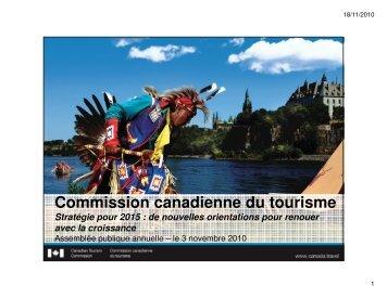 Version PDF - La Commission canadienne du tourisme - Canada