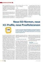 Neue ISO-Normen, neue ICC-Profile, neue ... - Jutta Bock