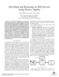 Describing and reasoning on web services using process algebra ...