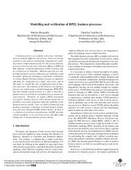 Modelling and verification of BPEL business processes