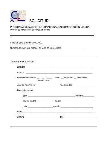 SOLICITUD - Universidad Politécnica de Madrid