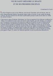 Vie de saint Grégoire le Sinaïte et de ses premiers disciples