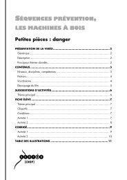 Séquences prévention, les machines à bois ... - Lesite.tv pour tous