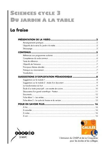 Corrig de la fiche 1 ac for La table du jardin