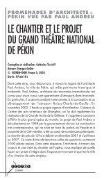 Chantier theatre Pekin - Lesite.tv pour tous