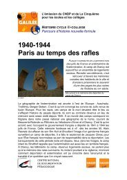 194 0-1944 Par is au temps des ra fles - Lesite.tv pour tous