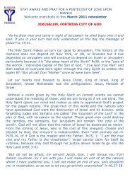 stay awake and pray for a pentecost of love upon ... - Alleluia France