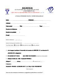 Bulletin d'inscription - Alleluia France