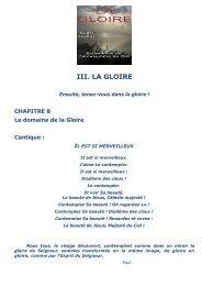Chap 8 : Le domaine de la Gloire - Alleluia France