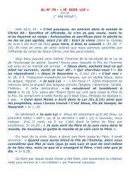 « JE suis Lui » - Alleluia France