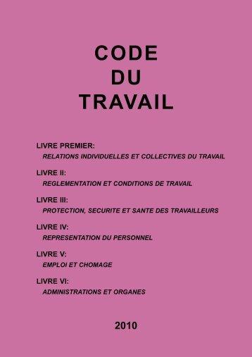 Code du travail 2010 - CLC