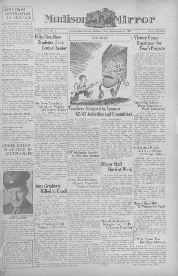 September 24, 1943 (The Madison Mirror, 1925 - 1969)