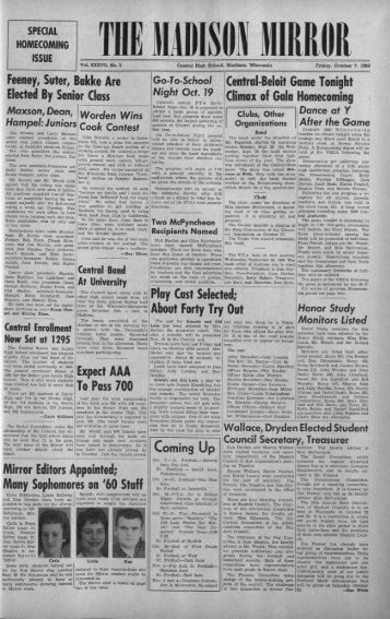 October 7, 1960 (The Madison Mirror, 1925 - 1969)