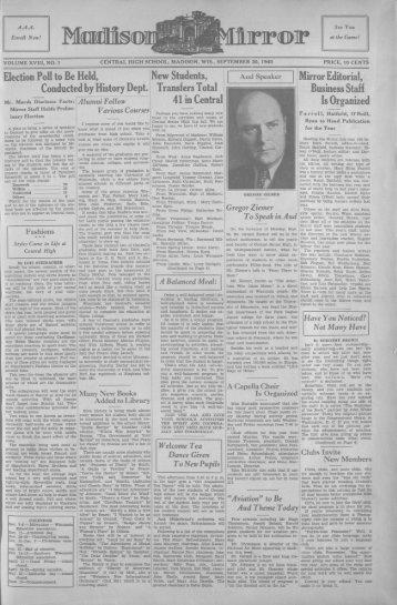 September 20, 1940 (The Madison Mirror, 1925 - 1969)