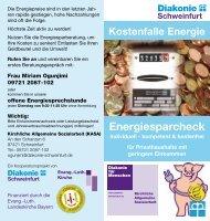 Projektflyer herunterladen - Diakonie Schweinfurt