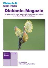 Diakonie-Magazin Nr.: 45 (606,71 kb) - Diakonie Schweinfurt