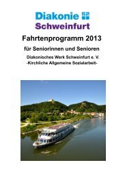 Fahrtenprogramm 2013 - Diakonie Schweinfurt