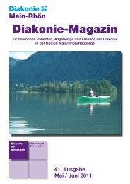 Diakonie-Magazin Nr.: 41 (813,7 kb) - Diakonie Schweinfurt