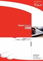 Téléchargez le Rapport financier - Conseil Supérieur de l'Ordre des ...