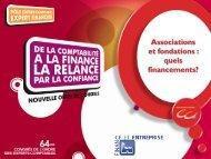 Associations et fondations: quels financements - Conseil Supérieur ...