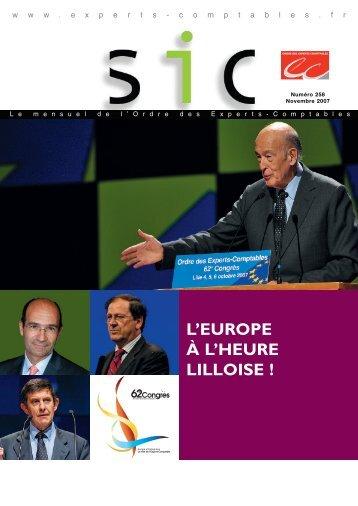 l'europe à l'heure lilloise - Conseil Supérieur de l'Ordre des Experts ...