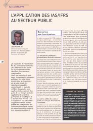 l'application des ias/ifrs au secteur public - Ordre des Experts ...
